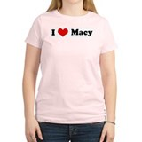I Love Macy Women's Pink T-Shirt