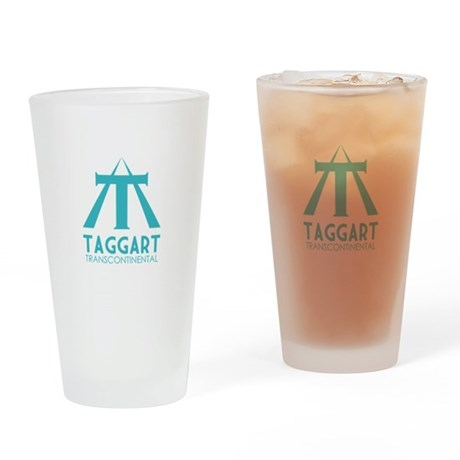 Taggart Transcontinental Blue Drinking Glass