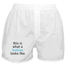 What A Lesbian Looks Like Boxer Shorts