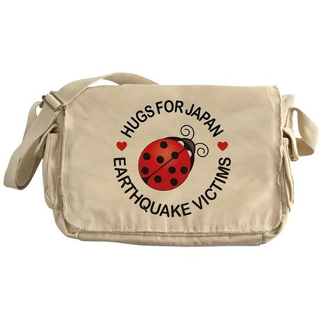 Japan Lucky Bug & Hugs Messenger Bag