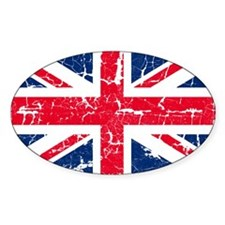 UK Flag Distressed Decal