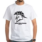 White T-Shirt W/Black Agoge Logo, Name and URL