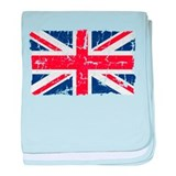 UK Flag Distressed baby blanket