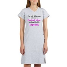Football Mom Pitbull Lipstick Women's Nightshirt