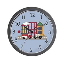 Emergency Vehicles Wall Clock