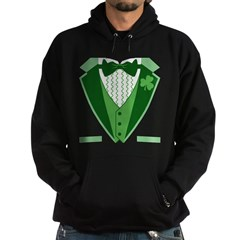 Funny Irish Tuxedo Hoodie (dark)