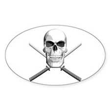 Samurai Skull Decal