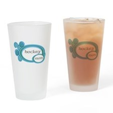 Hockey Mom Swirl Drinking Glass