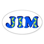 Jim Sticker (Oval)