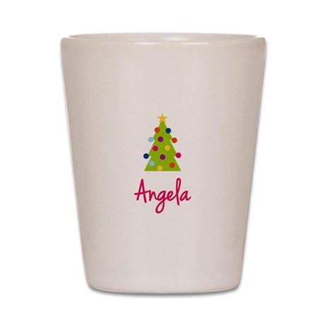Christmas Tree Angela Shot Glass