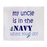 Cool Navy uncle Throw Blanket
