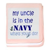 Cute Navy baby blanket