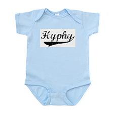 Black Vintage Hyphy Infant Creeper