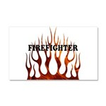 Firefighter Tribal Flames Car Magnet 20 x 12