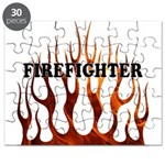 Firefighter Tribal Flames Puzzle