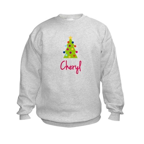 Christmas Tree Cheryl Kids Sweatshirt