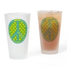 Soccer in Peace Frame Drinking Glass