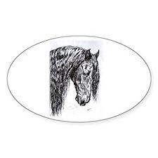 Frisian horse drawing Decal