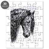 Frisian horse drawing Puzzle