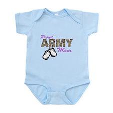 Cute Army mom Infant Bodysuit