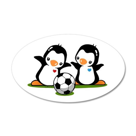 I Like Soccer (2) 20x12 Oval Wall Decal