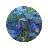 "Monet - Water Lilies 3.5"" Button"