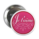 """Je t'aime"" Button"