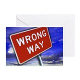 """WRONG WAY"" Greeting Cards (Pk of 10)"