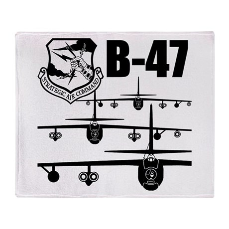 SAC B-47 Throw Blanket