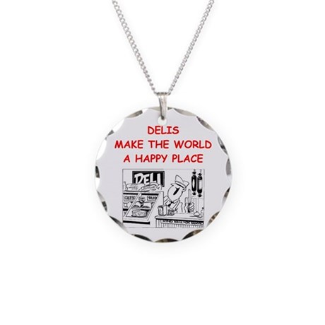 deli gifts Necklace Circle Charm