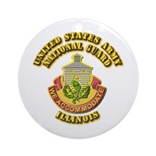 Army National Guard - Illinois Ornament (Round)