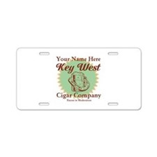 Key West Cigar Company Aluminum License Plate