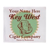 Key West Cigar Company Throw Blanket