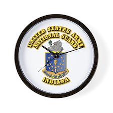 Army National Guard - Indiana Wall Clock