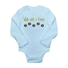 Walk With a Friend Long Sleeve Infant Bodysuit