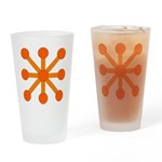 Orange Jacks Drinking Glass