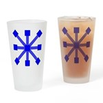 Blue Jacks Drinking Glass