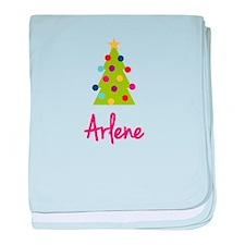 Christmas Tree Arlene baby blanket