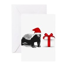 honey badget santa Greeting Cards (Pk of 10)