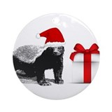 Honey badger Round Ornaments
