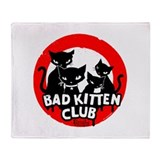 Bad Kitten Club Throw Blanket