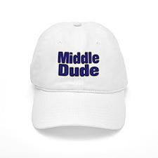 MIDDLE DUDE (dark blue) Baseball Cap