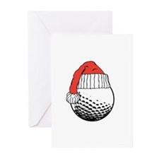 CHRISTMAS GOLF BALL Greeting Cards (Pk of 10)