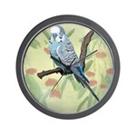 Blue Parakeet or Budgie Wall Clock