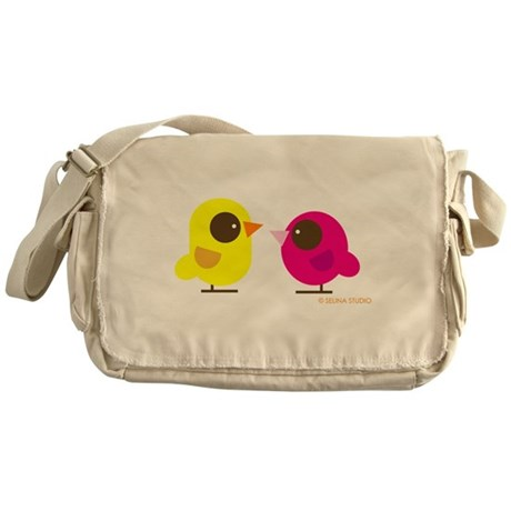 """2 Birds"" Messenger Bag"