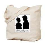 Jane Austen Darcy Lizzy Tote Bag
