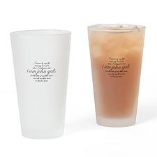 I Am John Galt Script Drinking Glass