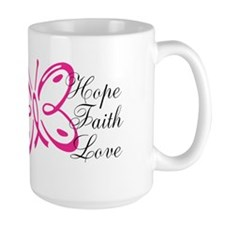 Breast Cancer Ribbon Butterfly Coffee Mug