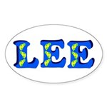 Lee Sticker (Oval)