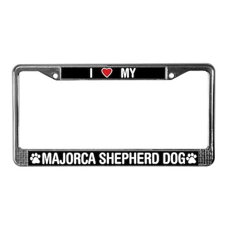 Majorca Shepherd Dog License Plate Frame